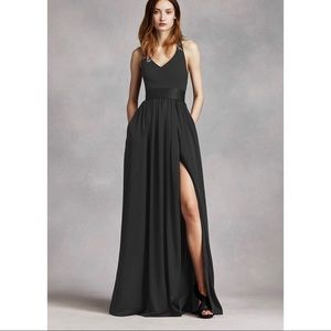 Vera Wang Black Bridesmaid Dress
